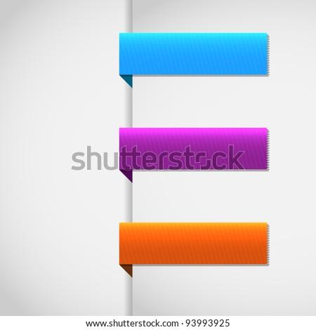 Vector set ribbons tag - EPS10 Design