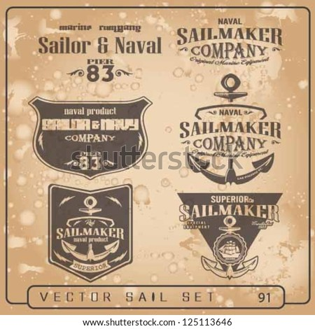 vector set,Sailor Design Collection.sea store set.sail vector elements set.