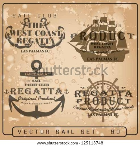 vector set Sailor Design Collection.sea store set.sail vector elements set