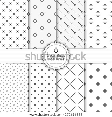 vector set seamless pattern