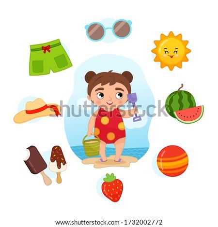 vector set signs of summer