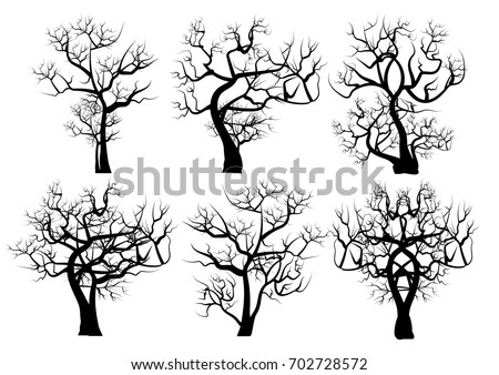vector set  silhouettes of