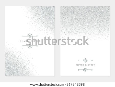 vector set silver banner on