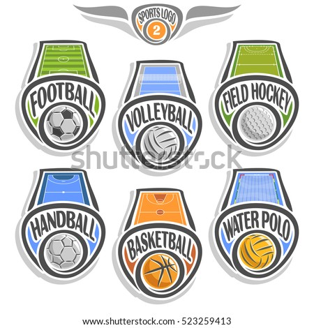 vector set sports logo with