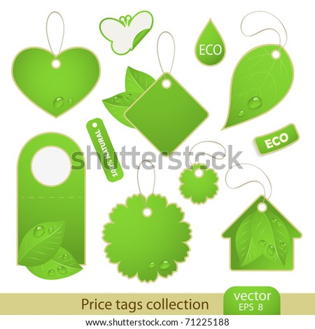 Vector set: tags - ECO, 11 items