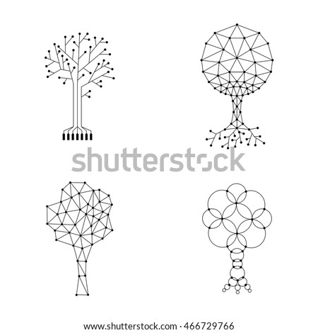 vector set trees made of
