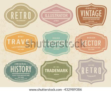 vector set vintage labels 5