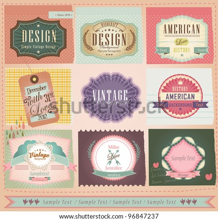 Vector set vintage labels 2