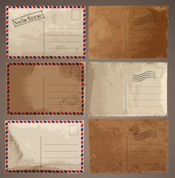 Vector set: Vintage postcard designs
