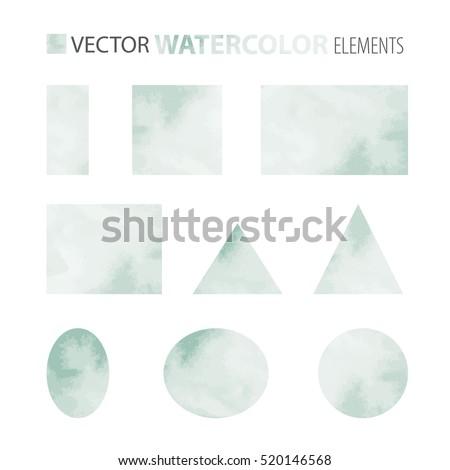 vector set   watercolor shapes