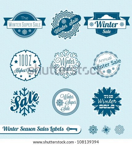 stock-vector-vector-set-winter-sale-labels
