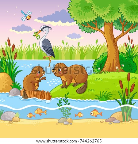 vector set with animals and