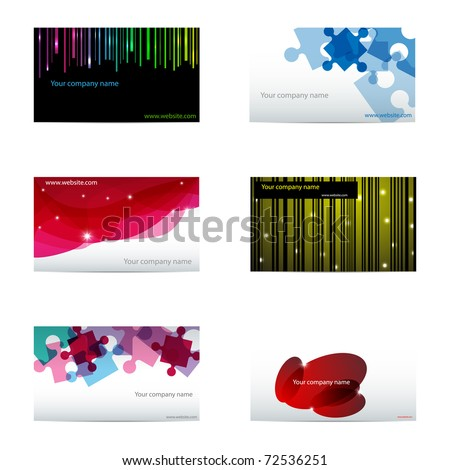 Vector set with different business cards - stock vector