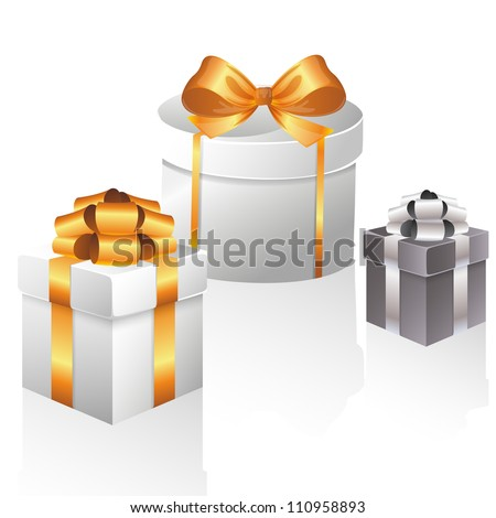 Vector set with gift boxes