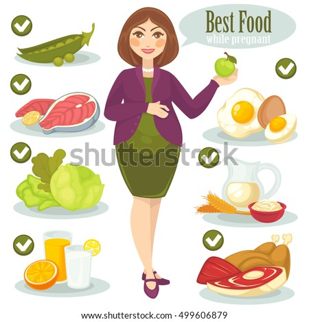 vector set with woman and