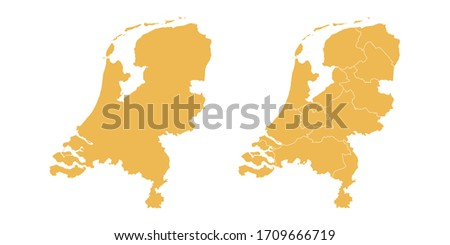 vector set yellow of map