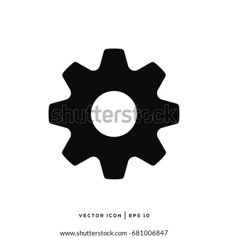 Vector Setting Icon, Tools, Cog, Gear Sign Isolated In White Background