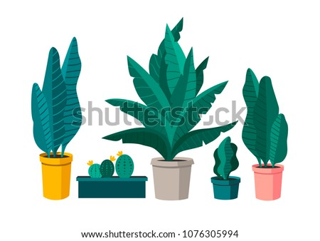 Vector setVector set of plants. Perfect for greeting card, poster, invitation and so on. of plants