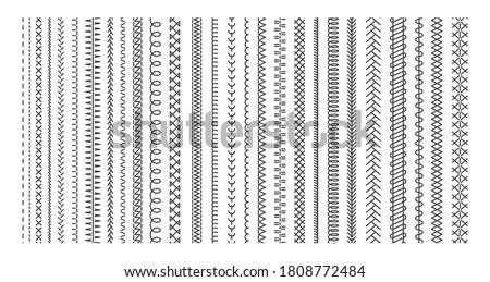 vector sewing machine stitches