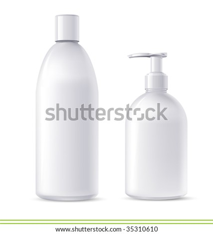 vector  shampoo and soap containers. There are VARIETY of white containers in my portfolio ;)