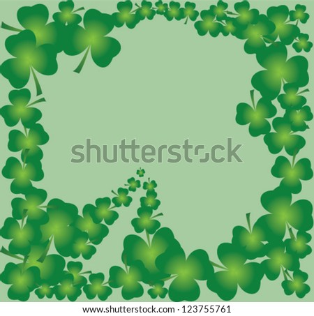 vector shamrock frame for St.Patrick day