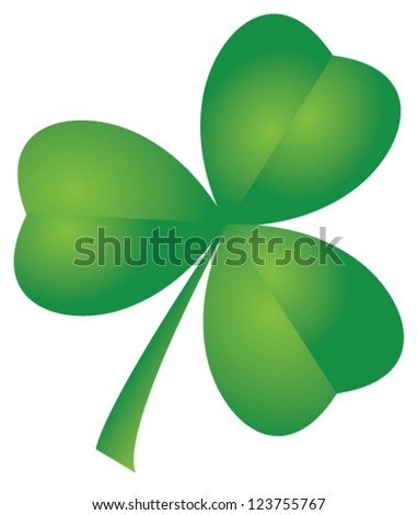 vector shamrock isolated on white background for St.Patrick day