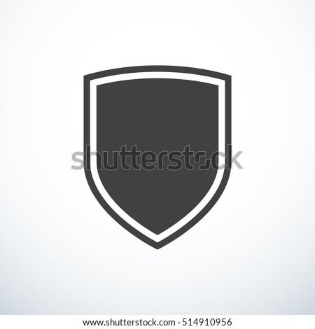 Vector shield icon Foto stock ©