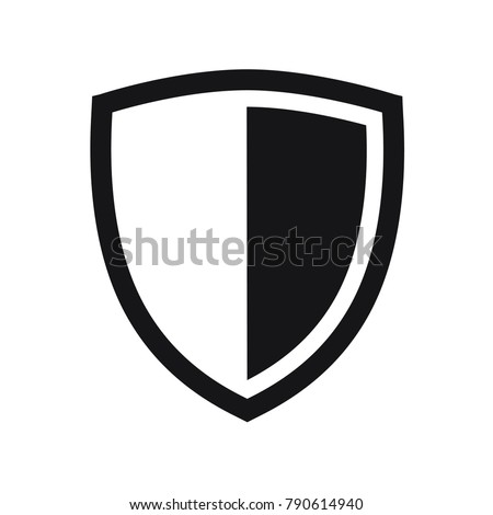 vector shield icon  flat design