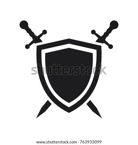 vector shield icon  flat design