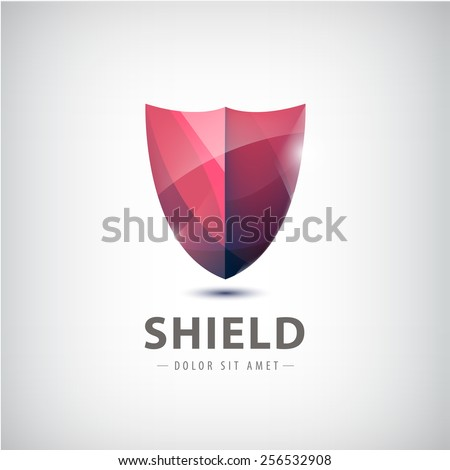 vector shield icon  logo
