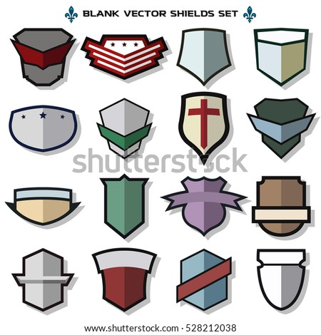 Blank military shield
