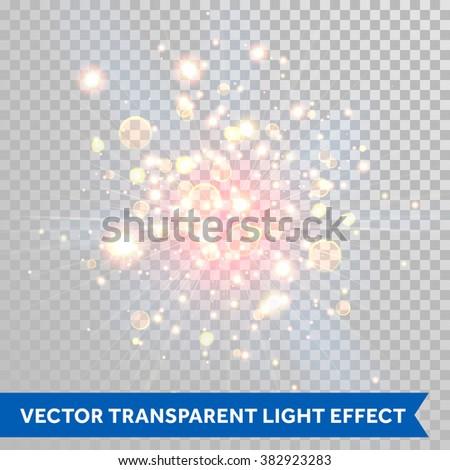 vector shimmering sparks of