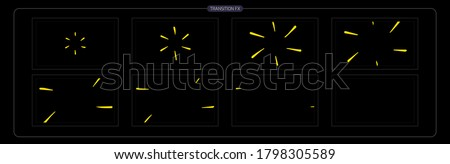 Vector Shine VFX. Shine Effect Sprite Sheet for App, Video Game or Cartoon or Animation and motion design. 2D Classic Shine light FX. EPS 10 Vector illustration.