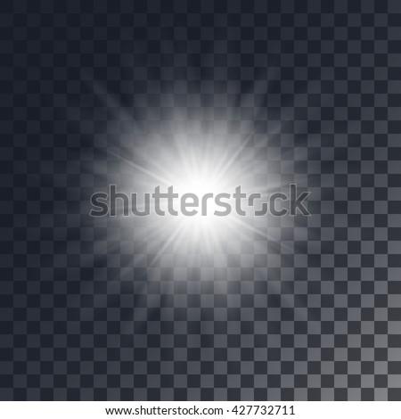 vector shining sun on
