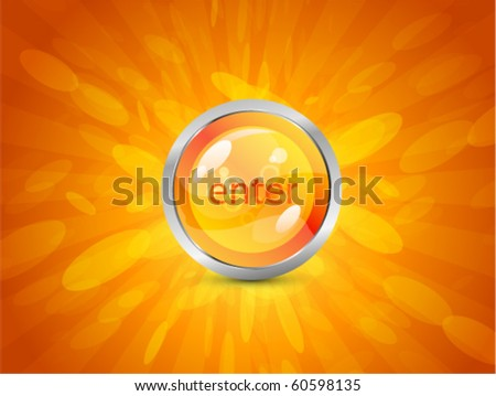 Vector shiny background with Enter button
