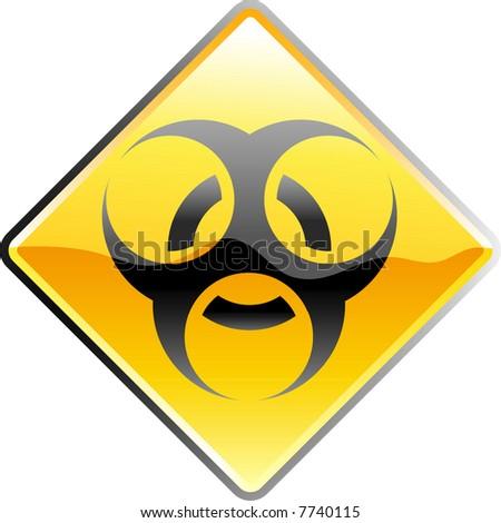 vector shiny bio hazard sign