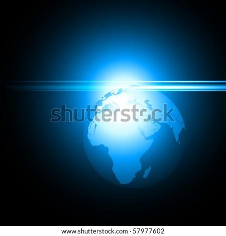 vector shiny blue earth illustration