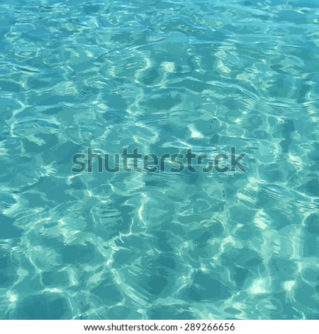 vector shiny blue ocean clean
