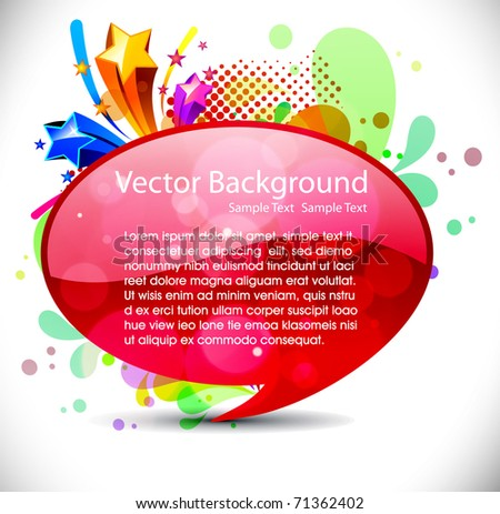 vector shiny bubbles for speech , editable illustration - stock vector