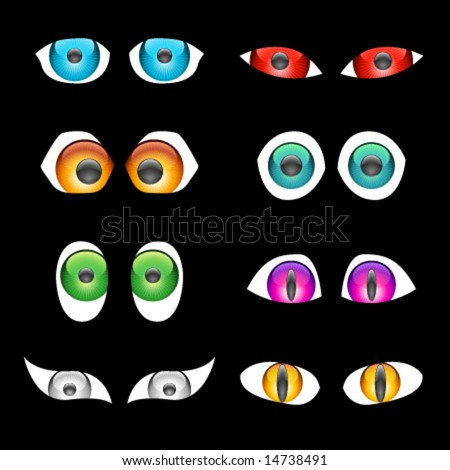 cartoon eyes clip art. Vector Shiny Cartoon Eyes