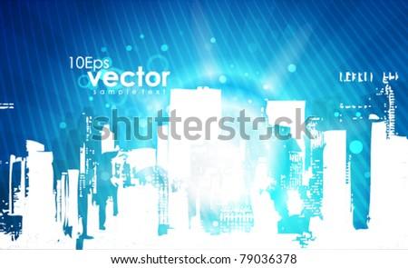 Vector shiny cityscape background
