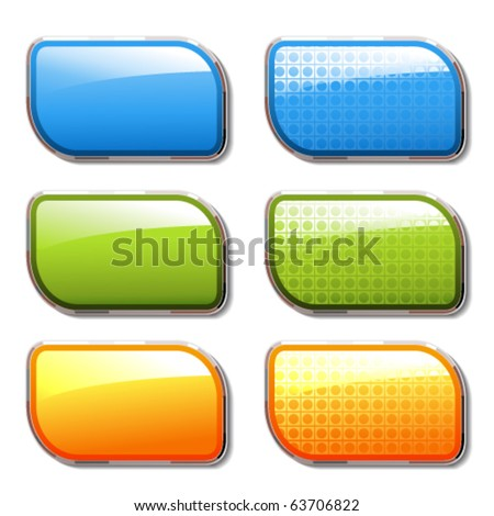 Vector shiny color banners