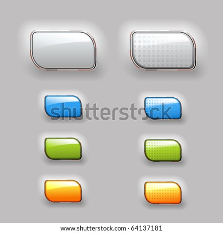 Vector shiny color buttons - stock vector