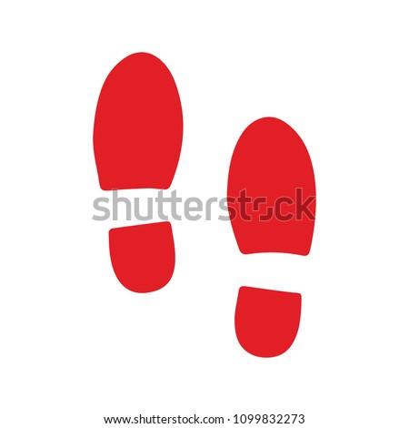 vector shoe footprint