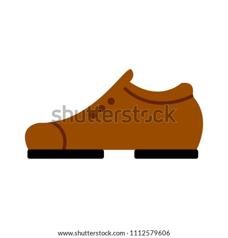vector shoes illustration, footwear isolated symbol - fashion wear icon