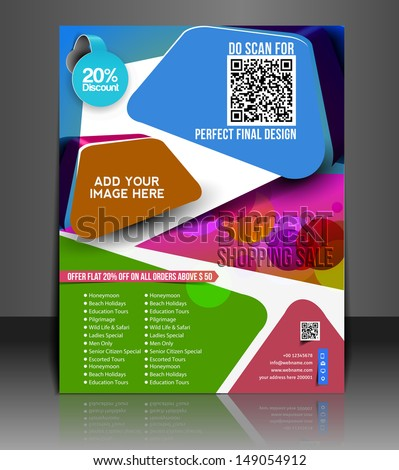 Vector Shoppind flyer magazine cover & poster template
