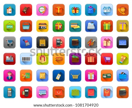 vector shopping and sale icons - online marketing symbols - e-commerce and online shopping icons