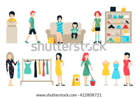 vector shopping and shipping