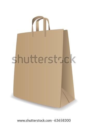 Vector shopping bag - stock vector