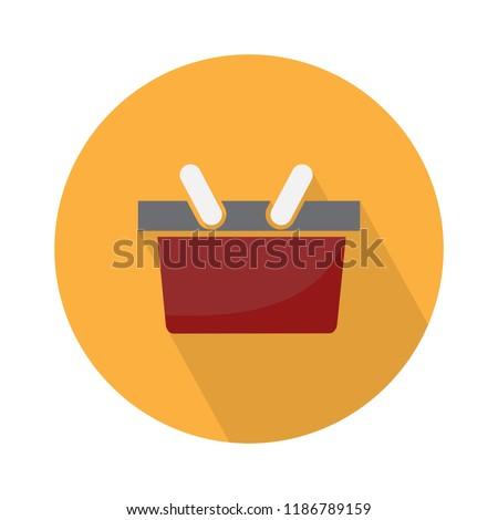 vector shopping basket icon. shopping illustration, online shopping market